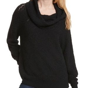 Free People By Your Side Sweater Womens Large Blac
